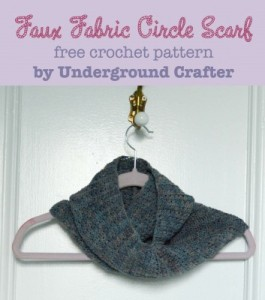 Faux Fabric Circle Scarf ~ Underground Crafter