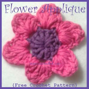 Flower Applique ~ Oui Crochet