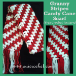 Granny Stripes Candy Cane Scarf ~ Oui Crochet