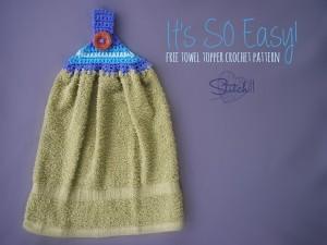 It's So Easy Towel Topper ~ Stitch11