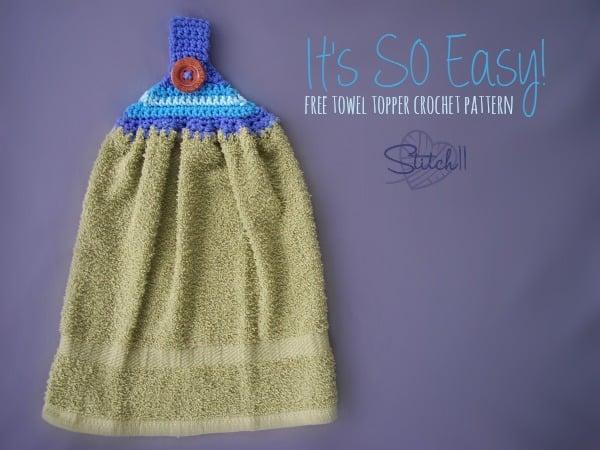 Free Crochet Pattern Towel Topper : Its So Easy Towel Topper ~ FREE Crochet Pattern