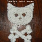 Kitty Skull n Bones Applique ~ Manda Proell - MandaLynn's Crochet Treasures