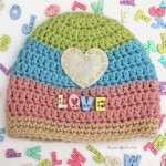 Love Button Crochet Hat ~ Repeat Crafter Me