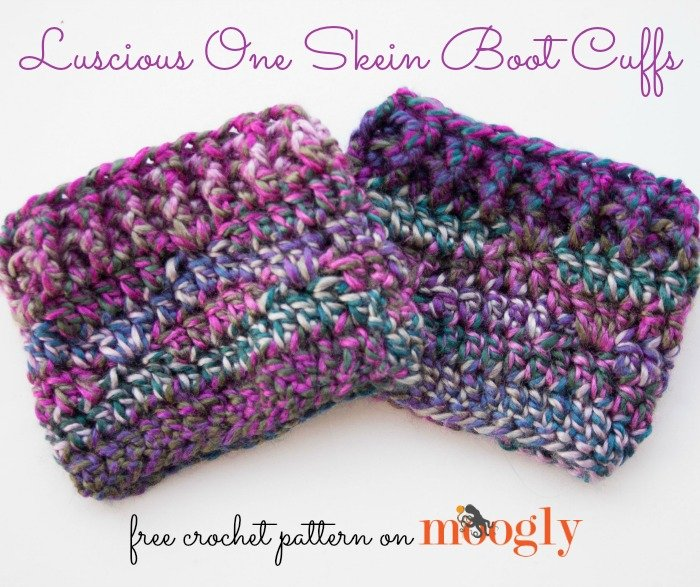 Luscious One Skein Boot Cuffs ~ Moogly