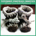 Newborn Football Booties ~ Oui Crochet