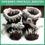 Newborn Football Booties ~ Oui Crochet