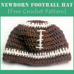 Newborn Football Hat ~ Oui Crochet