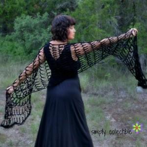Penelope's Flirty Shawl ~ Celina Lane - Simply Collectible
