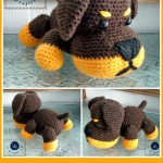 Little Rottie Amigurumi ~ Maz Kwok's Designs