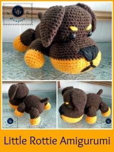 Little Rottie Amigurumi ~ Maz Kwok's Designs