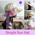 Simple Sun Hat ~ Maz Kwok's Designs