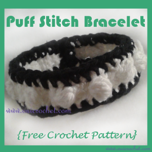 Puff Stitch Bracelet ~ Oui Crochet