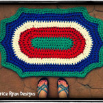 Retro Summertime Rug ~ Beatrice Ryan Designs