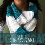 Infinity Rugby Scarf ~ Rebecca Langford – Little Monkeys Crochet