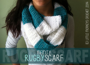 Infinity Rugby Scarf ~ Rebecca Langford - Little Monkeys Crochet