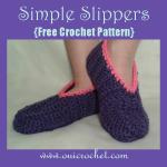 Child's Simple Slippers ~ Oui Crochet