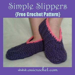 Child's Simple Slippers ~ Oui Crochet