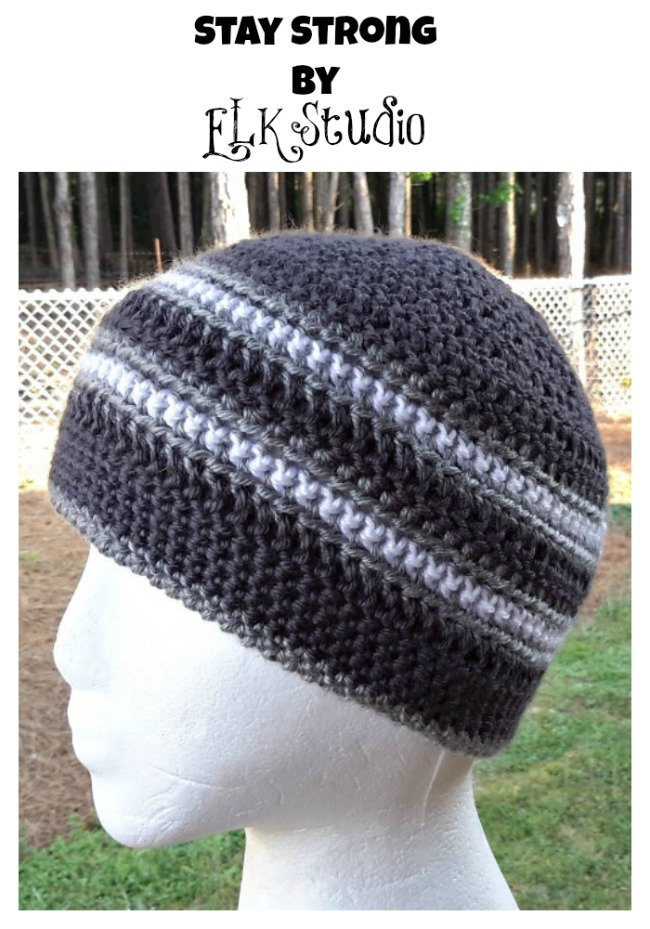 Stay Strong Beanie Free Crochet Pattern