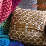 Sunshine Lattice Crochet Pillow ~ Moogly