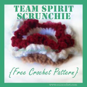 Team Spirit Hair Scrunchie ~ Oui Crochet
