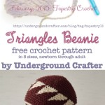 Triangles Beanie ~ Underground Crafter