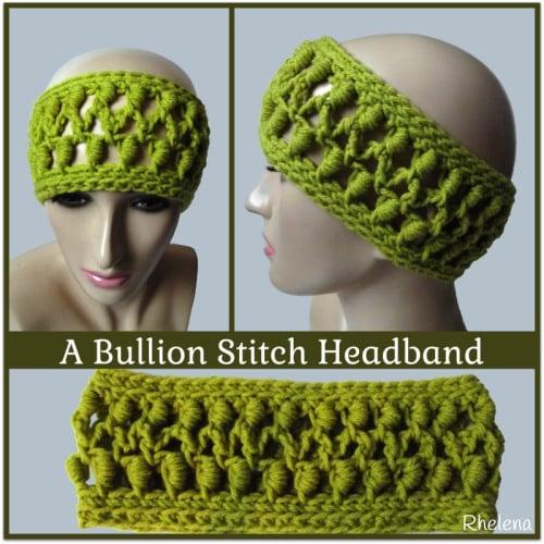 A Bullion Stitch Headband