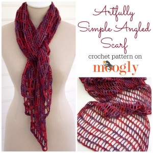 Artfully Simple Angled Scarf ~ Moogly