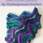 Rippling Peacock Scarf ~ Underground Crafter