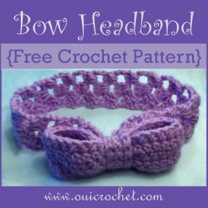 Bow Headband ~ Oui Crochet