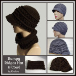Bumpy Ridges Hat & Cowl ~ Rhelena – CrochetN'Crafts