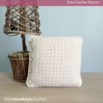 Buttoned Throw Pillow ~ Rebecca Langford – Little Monkeys Crochet