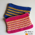 Woven Stitch Zipper Pouch ~ My Hobby is Crochet