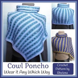 Cowl Poncho ~ Rhelena - CrochetN'Crafts