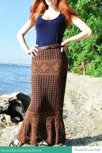 Crochet Maxi Skirt ~ Jane Green - Beautiful Crochet Stuff