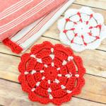 Crochet Pot Holders ~ Petals to Picots