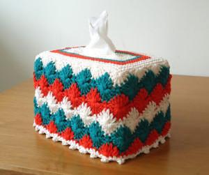 Catherine Wheel Tissue Box Cover ~ Stitch of Love