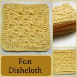 Fan Dishcloth ~ Rhelena - CrochetN'Crafts