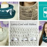 Lattice Cowl with Ribbon ~ Grannysquaredontcare