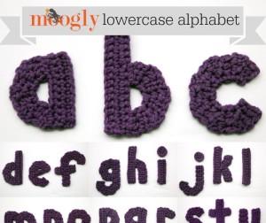 The Moogly Crochet Lowercase Alphabet ~ Moogly