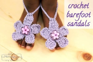Barefoot Flower Sandals ~ Stacey Williams - Repeat Crafter Me