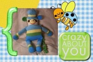 Funmigurumi Stripers or Stripe Cuddlers: Mr. Swingler ~ Craftybegonia's Funmigurumi and Kid's Stuff