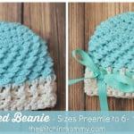 Textured Beanie – Preemie to 6-12 Months ~ The Stitchin' Mommy