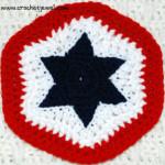Crochet 4th of July Star Potholder ~ Crochet Jewel