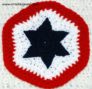 Crochet 4th of July Star Potholder ~ Crochet Jewel