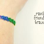Rainbow Friendship Bracelet ~ Oombawka Design