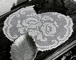 Rosy Future Doily ~ Free Vintage Crochet