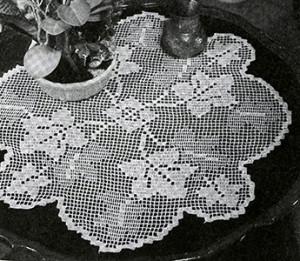 Grape Arbor Doily ~ Free Vintage Crochet
