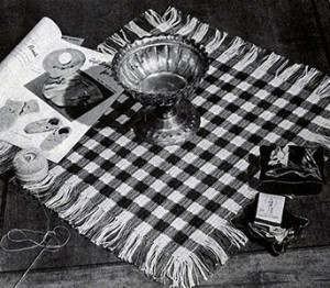 Checkerboard Placemat ~ Free Vintage Crochet
