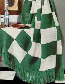 Large Check Afghan ~ Free Vintage Crochet