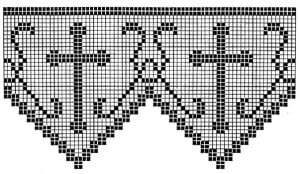 Filet Crochet Edging Patterns for Altar Cloths and Robes ~ Free Vintage Crochet
